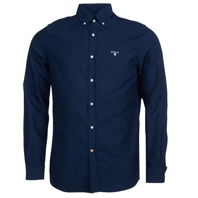 Barbour Oxford 3 Tailored Long Sleeve Shirt Navy