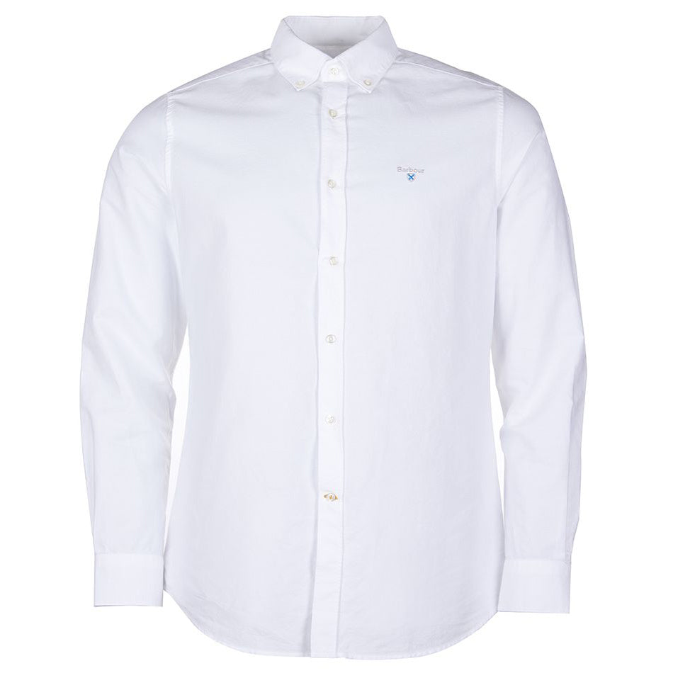 Barbour Oxford 3 Tailored Long Sleeve Shirt White