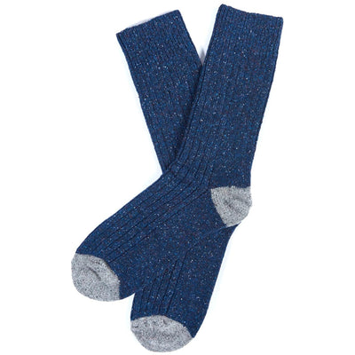 Barbour Houghton Sock Navy and Grey