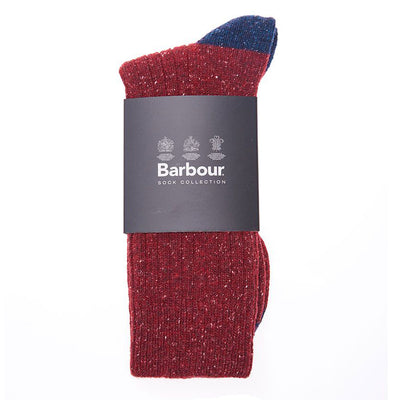 Barbour Houghton Sock Red and Navy