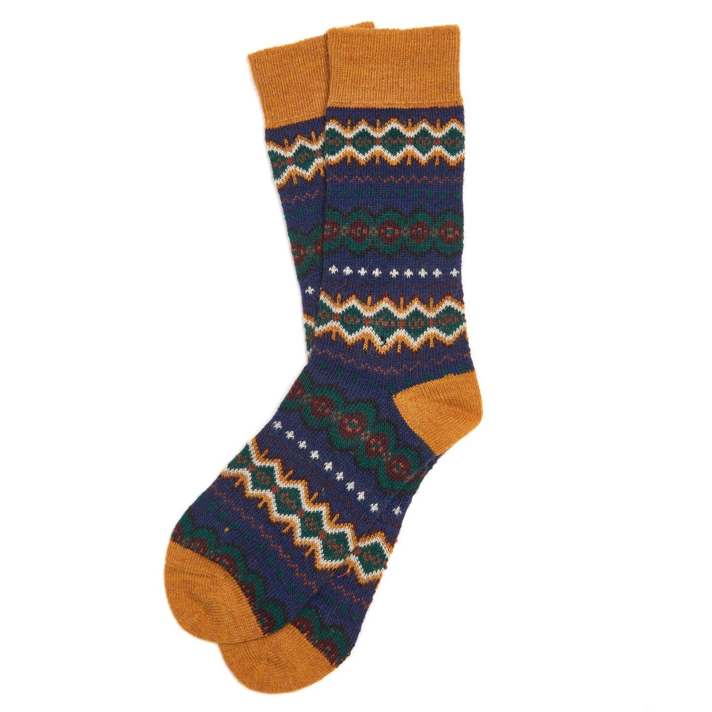 Barbour Caistown Fairisle Socks Navy