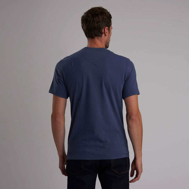 Barbour International Steve McQueen Hero T-Shirt Washed Indigo