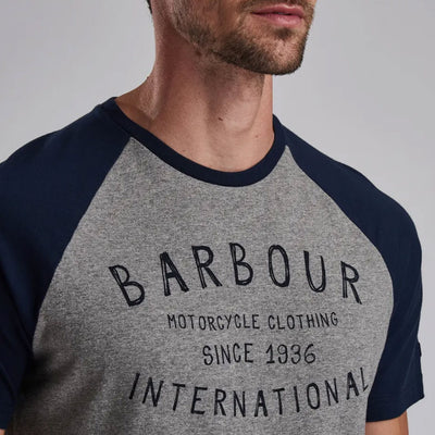 Barbour International Etch Raglan T-Shirt Anthracite