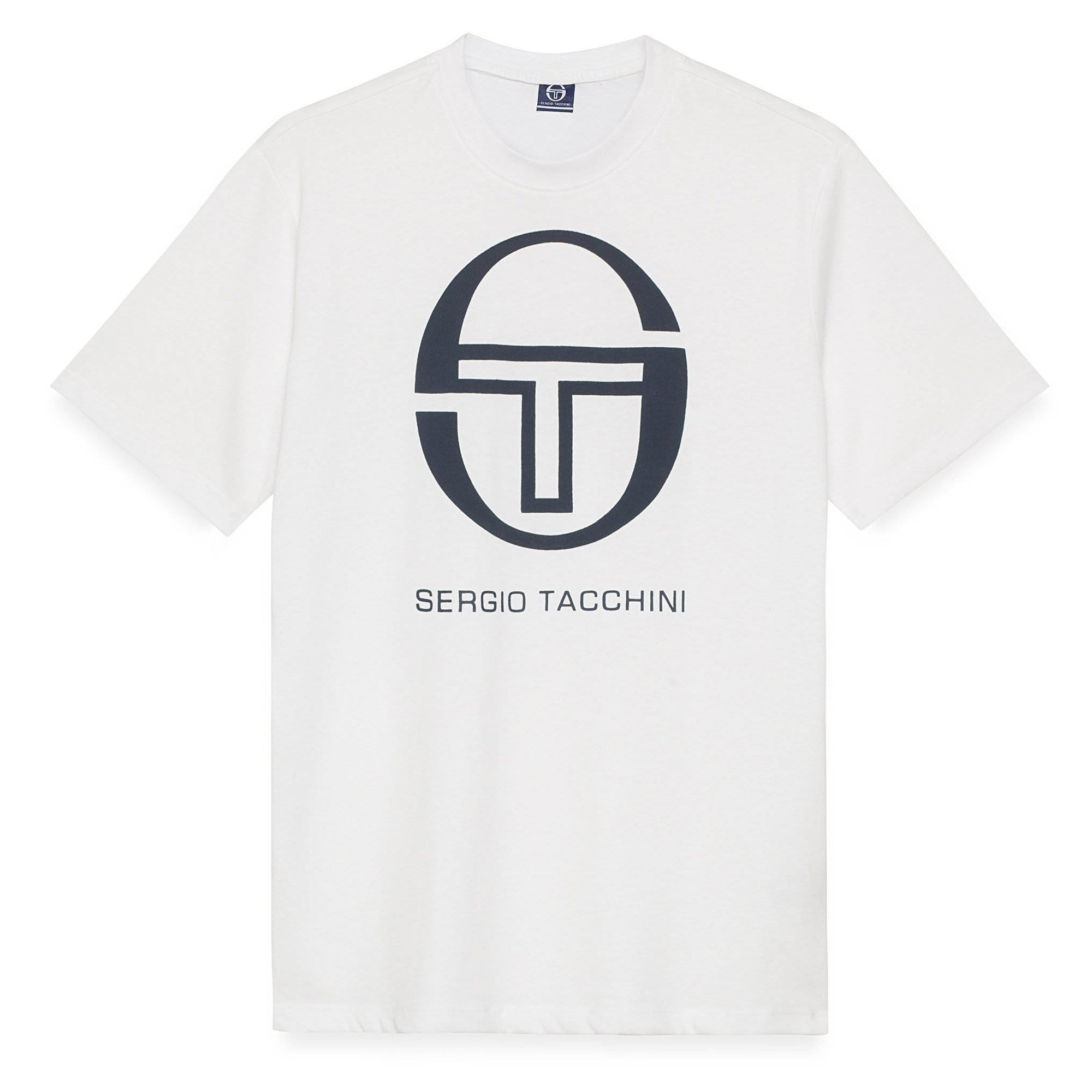 Sergio Tacchini Iberis T-Shirt White and Navy