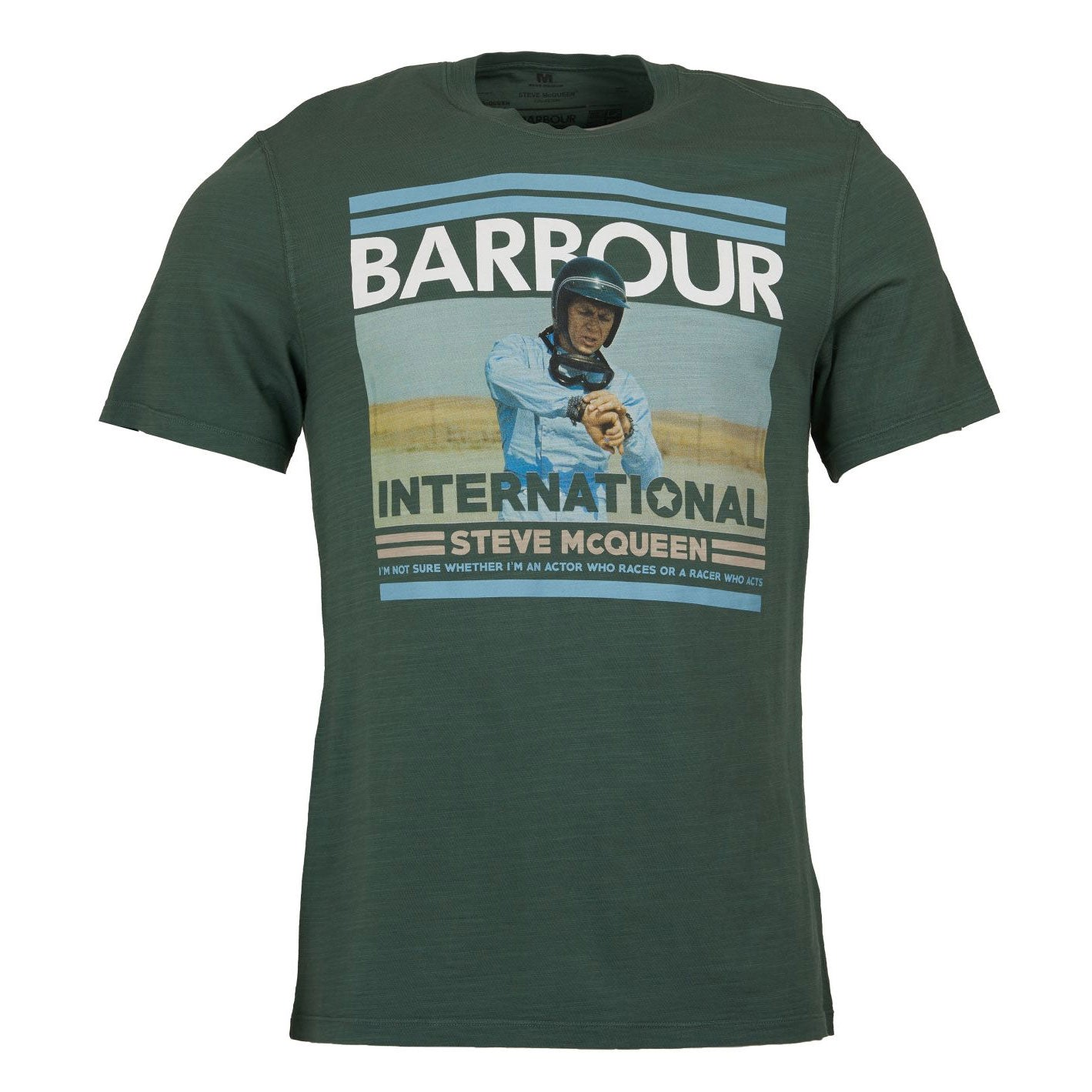 Barbour International Steve McQueen Time T-shirt Washed Khaki Green