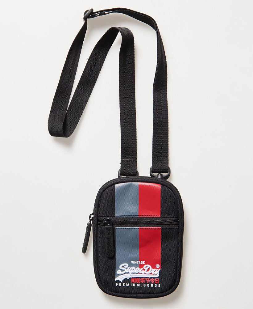 Superdry Vintage Logo Sport Pouch Bag Black