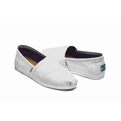 TOMS Mens Classics New Optic White Espadrilles Slip On Shoes