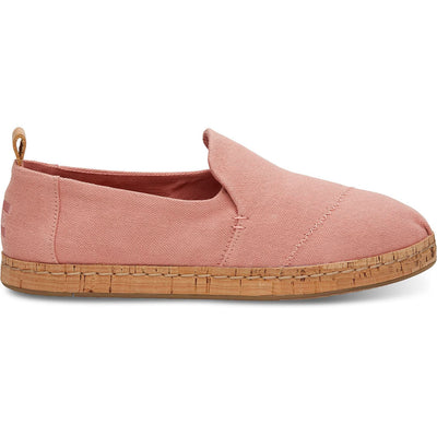 Toms Womens Bloom Hemp Deconstructed Cork Espadrilles Slip On