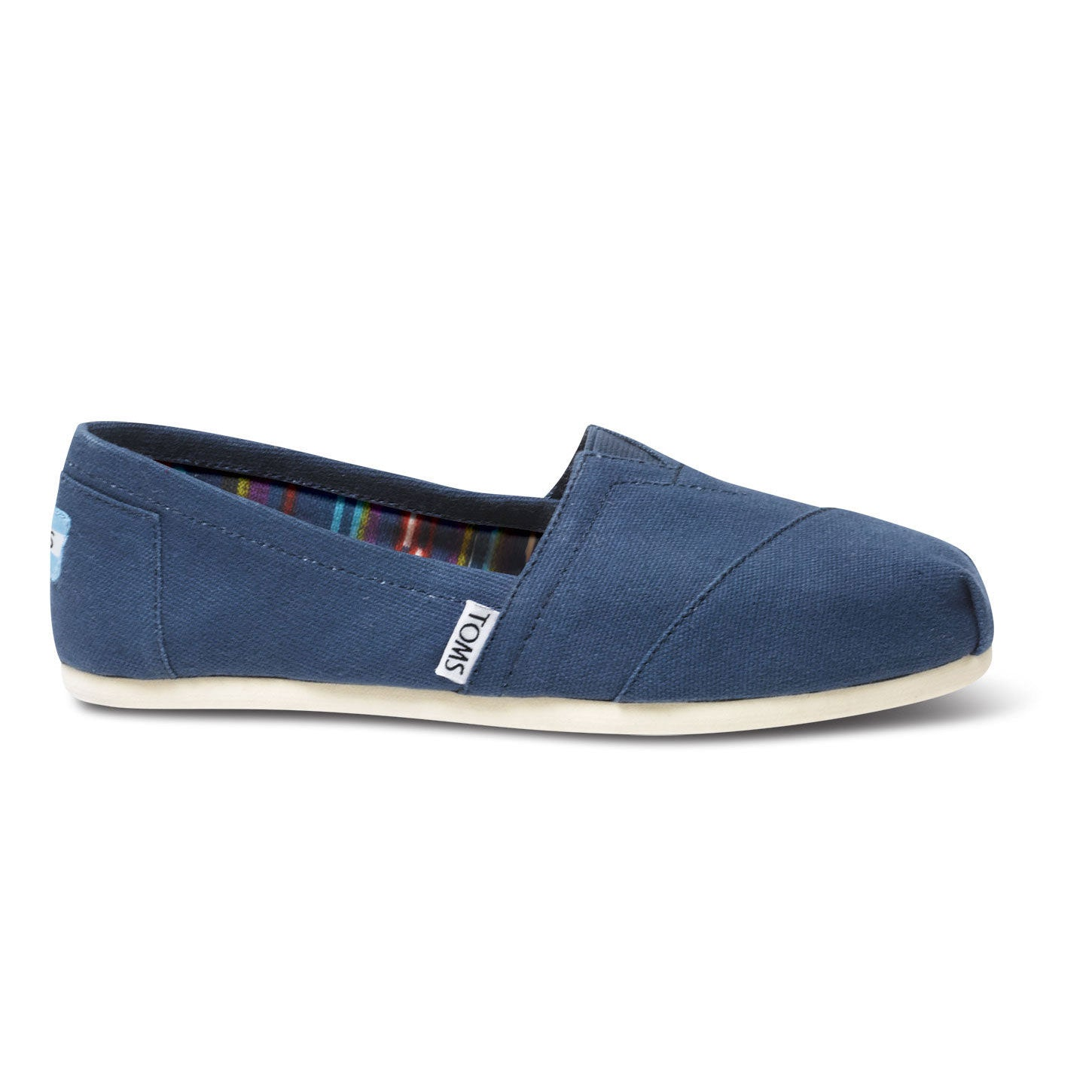 TOMS Womens Classics Canvas Espadrilles Navy Blue