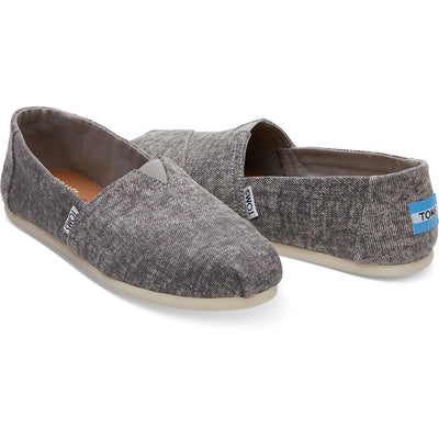 Toms Womens Classics Steel Grey Washed Denim
