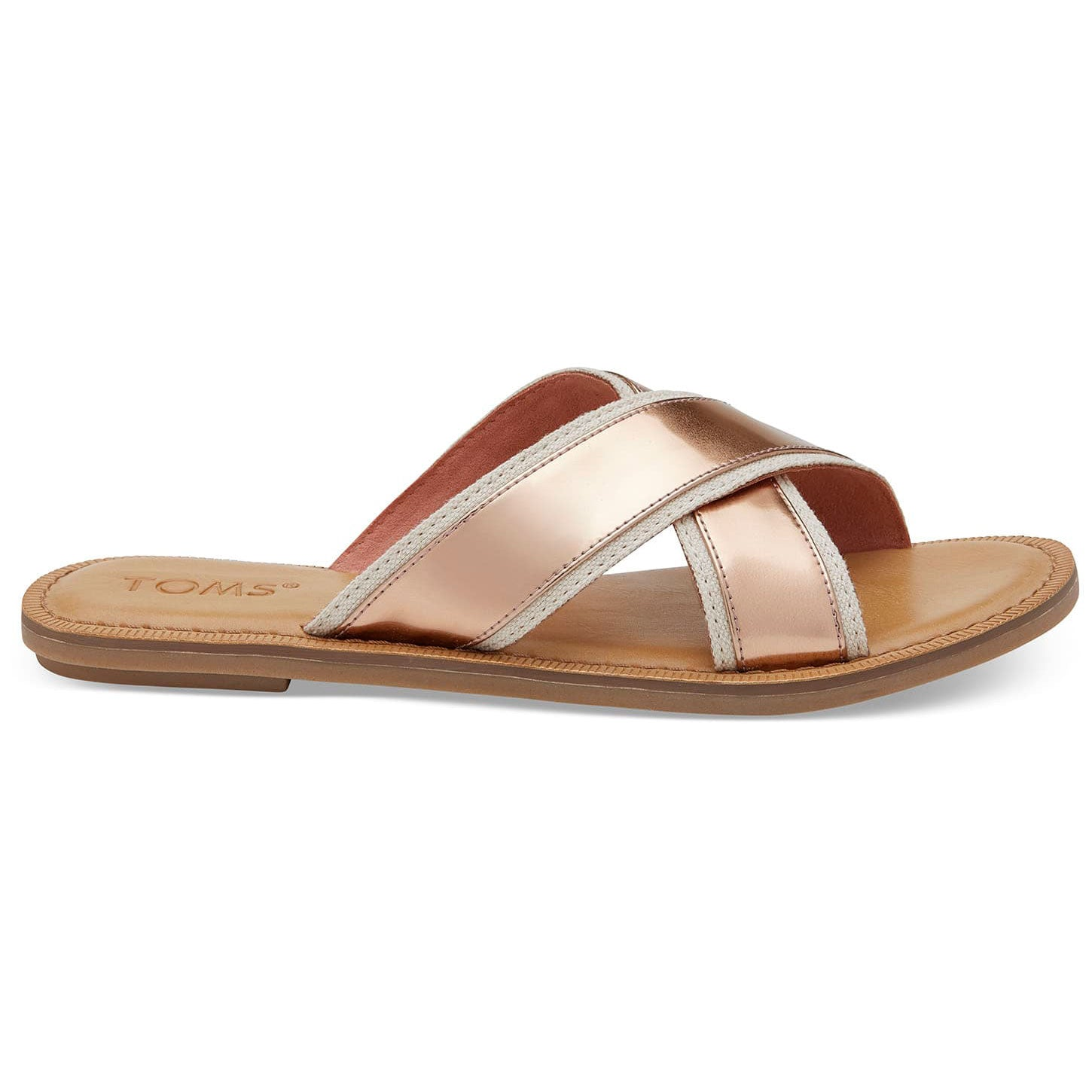 Toms Womens Viv Rose Gold Specchio Sandals
