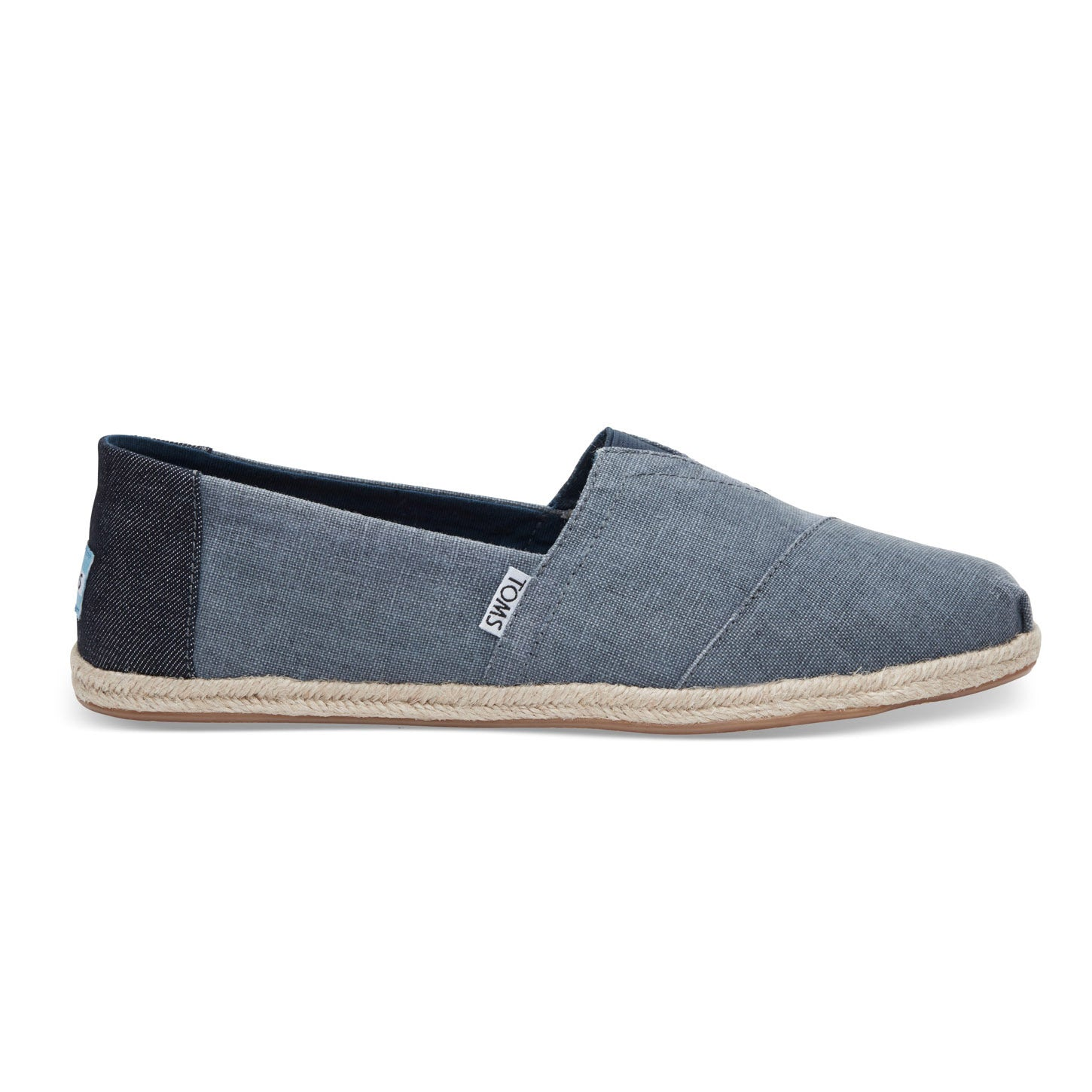 TOMS Mens Coated Linen Rope Sole Classics Deep Ocean Espadrilles