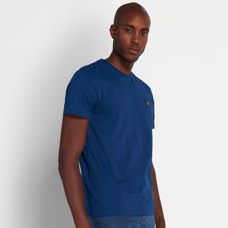 Lyle & Scott Crew Neck T-Shirt Indigo Blue