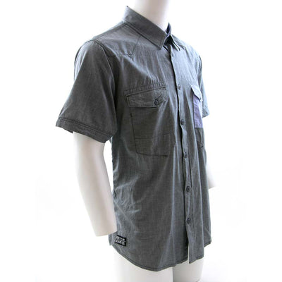 Voi Jeans Rapid Short Sleeve Shirt Grey Chambray