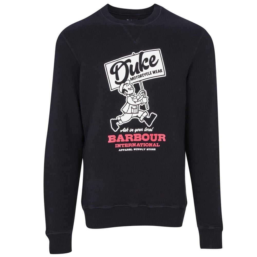 Barbour International Famous Duke Sweater Black