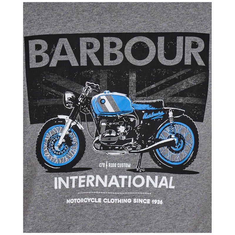 Barbour International Greenwood T-Shirt Anthracite Marl