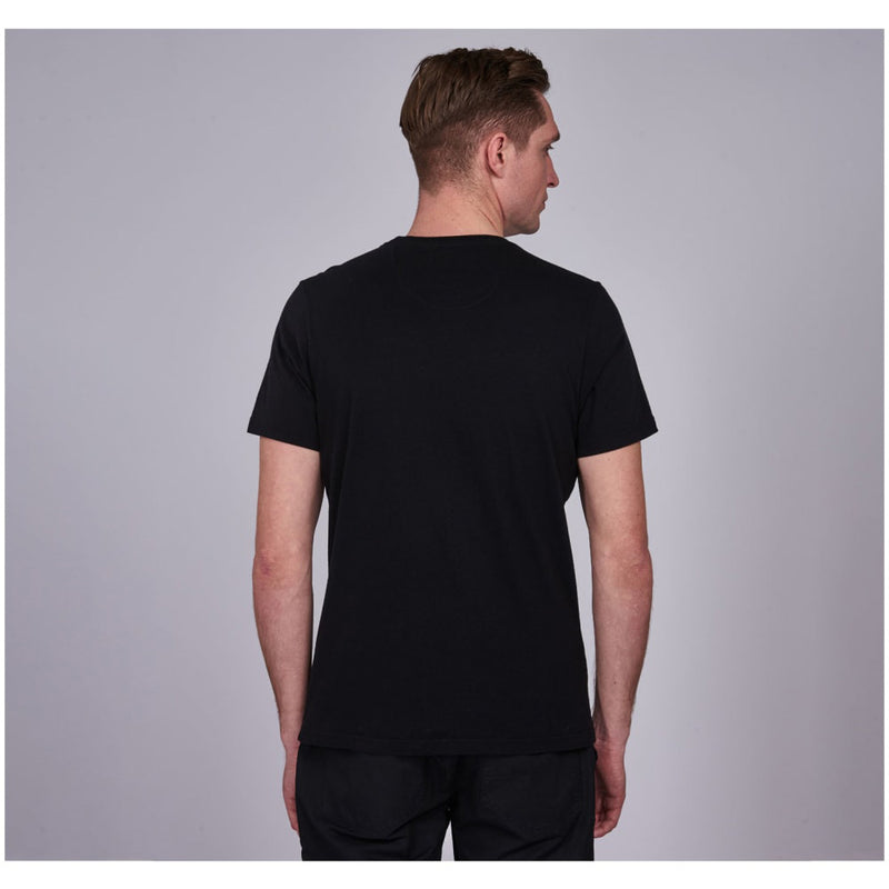 Barbour International Panel Logo T-Shirt Black