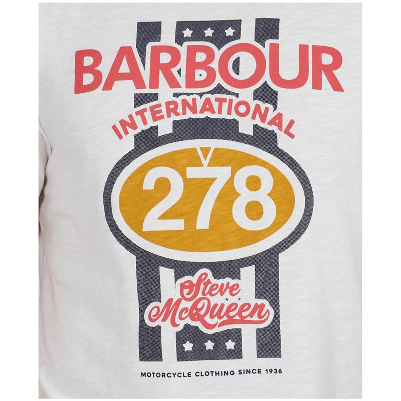 Barbour International Steve McQueen Chase T-Shirt Whisper White