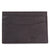 Barbour Amble Leather Card Holder Dark Brown