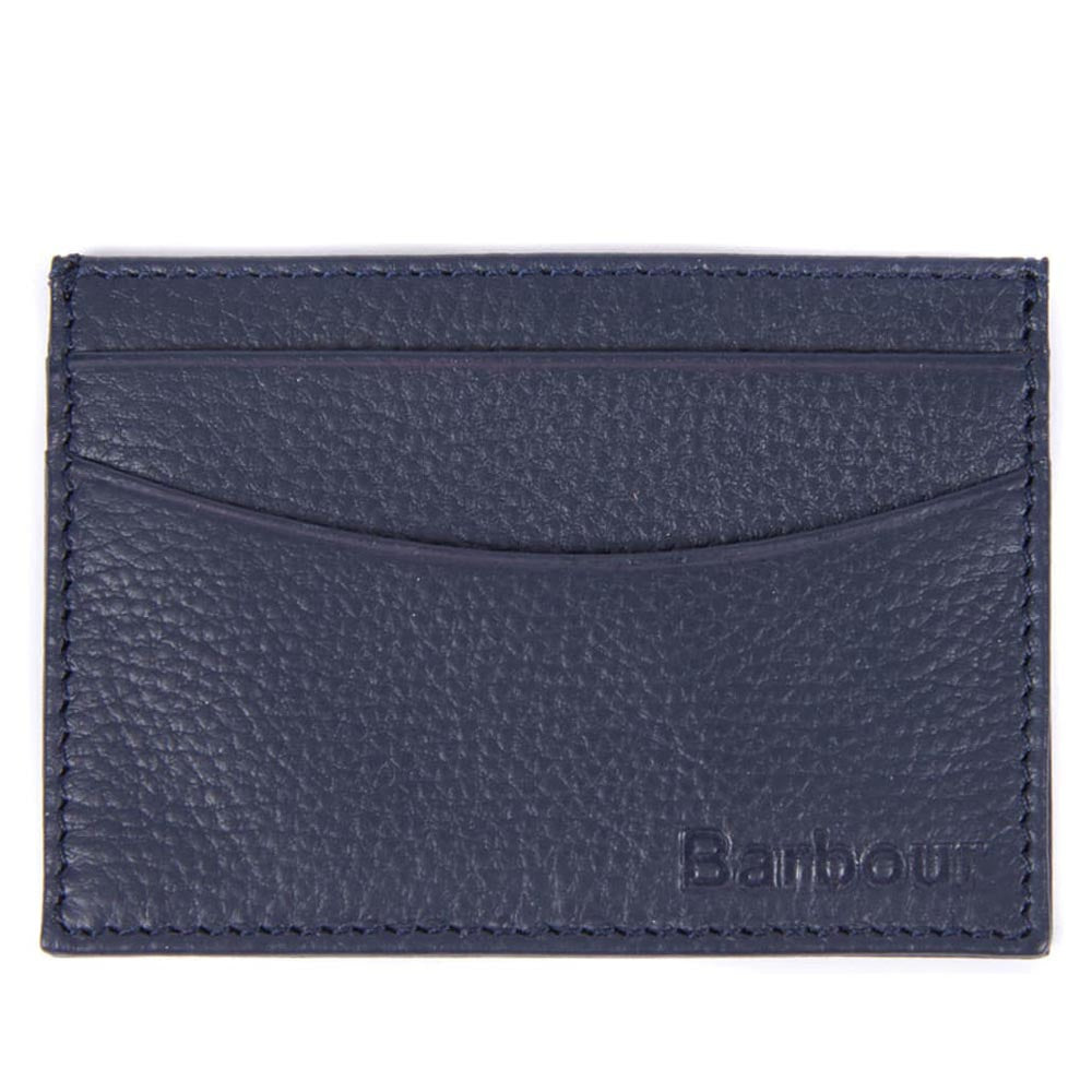 Barbour Amble Leather Card Holder Navy