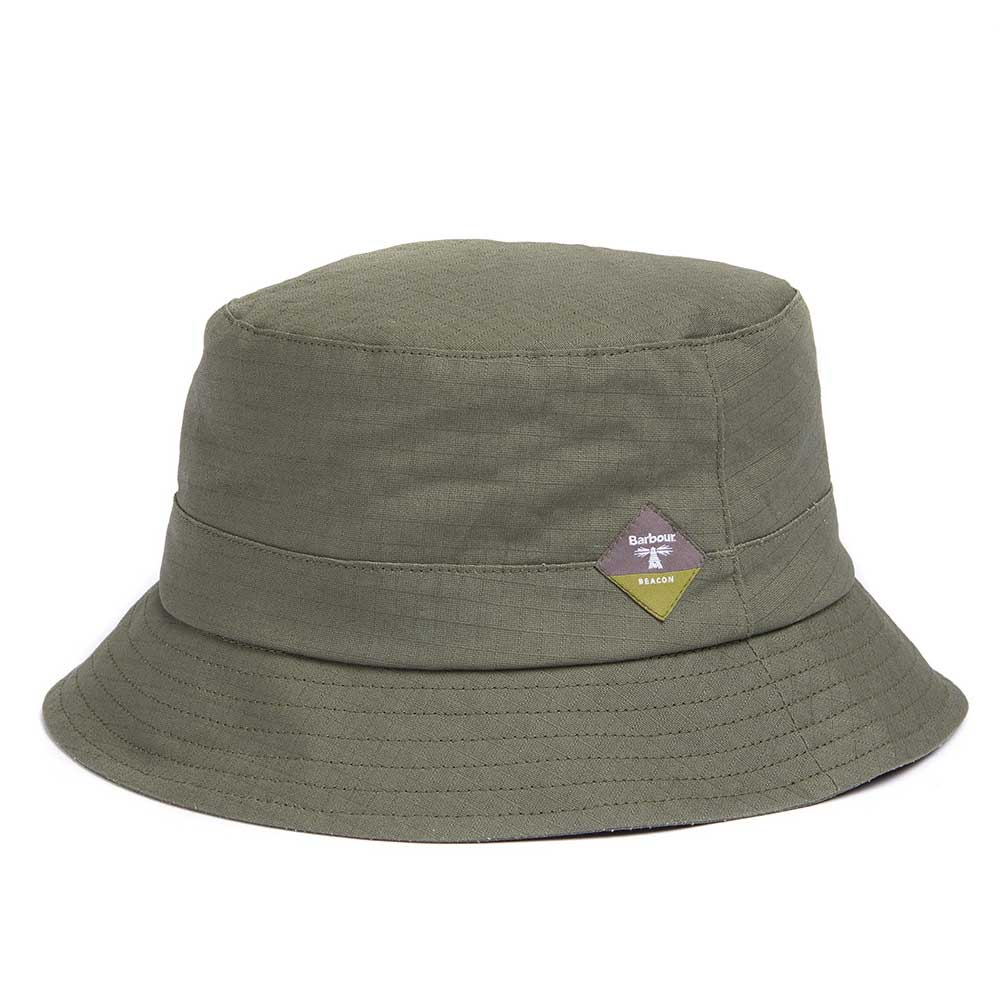 Barbour Beacon Mens Gully Green Waterproof Bucket Hat