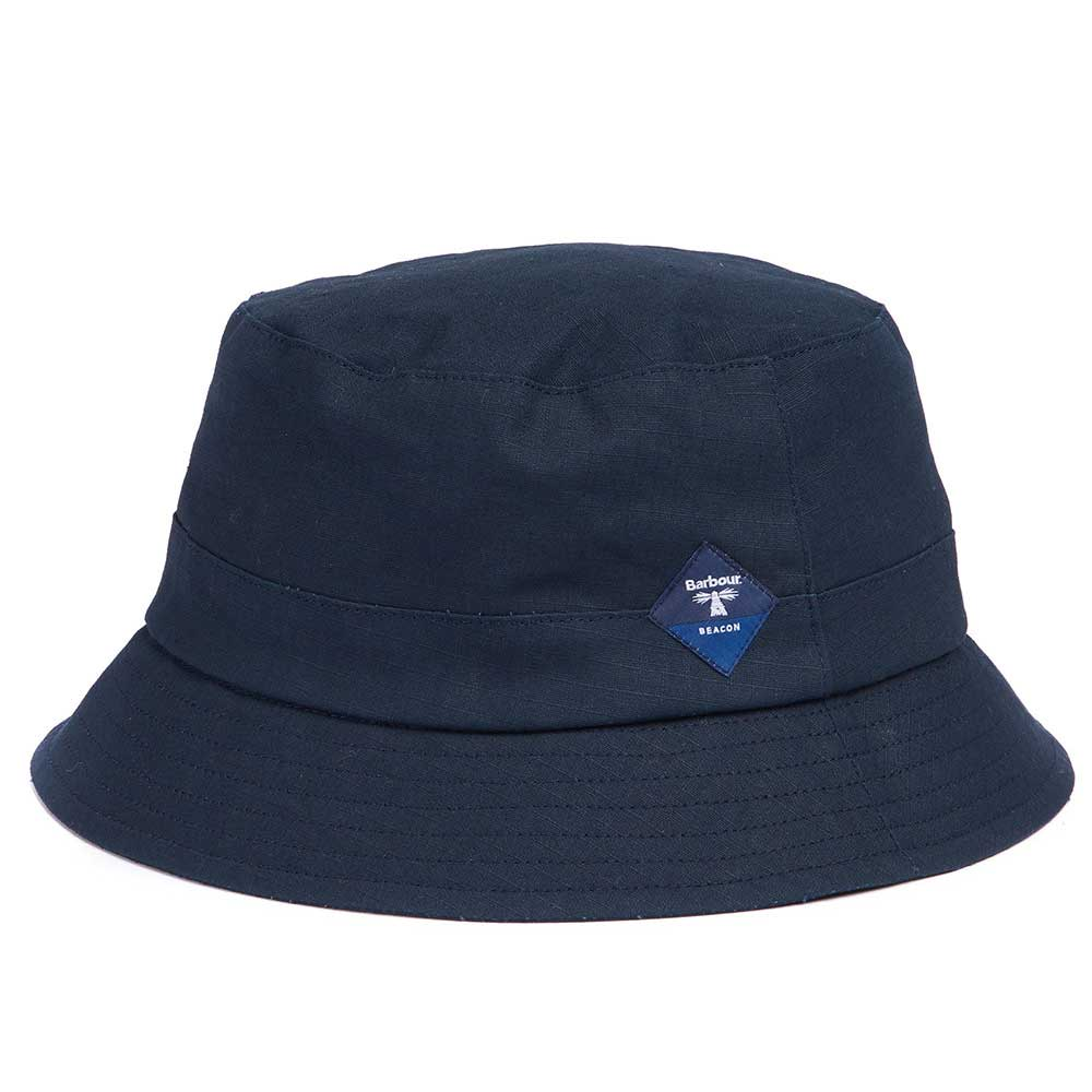 Barbour Beacon Mens Gully Navy Waterproof Bucket Hat
