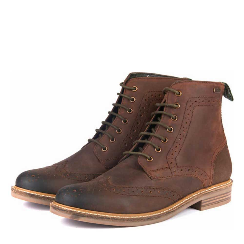 Barbour Belsay Brogue Boots Chocolate