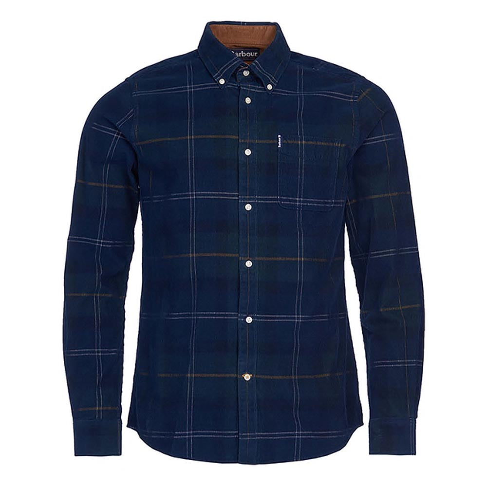 Barbour Blair Cord Shirt Seaweed Tartan