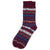 Barbour Boyd Sock Burgundy Mix
