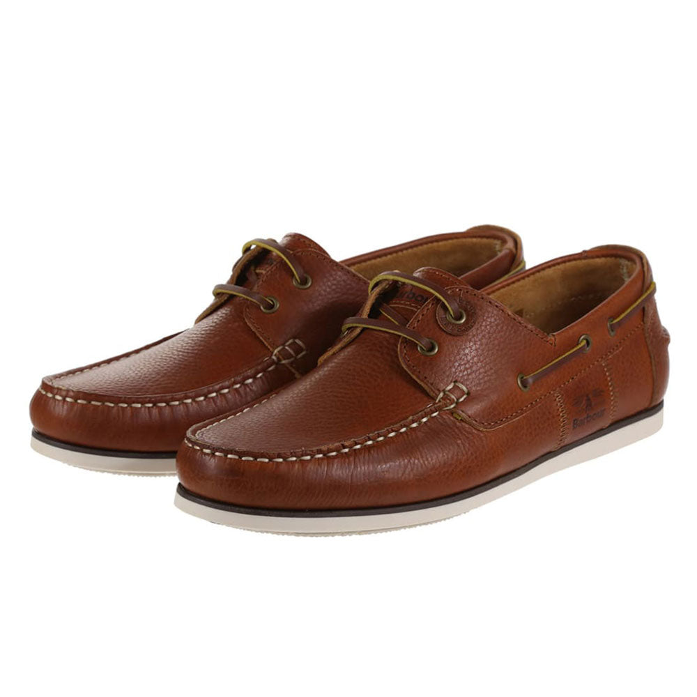 Barbour Men's Capstan Boat Shoes Cognac Brown