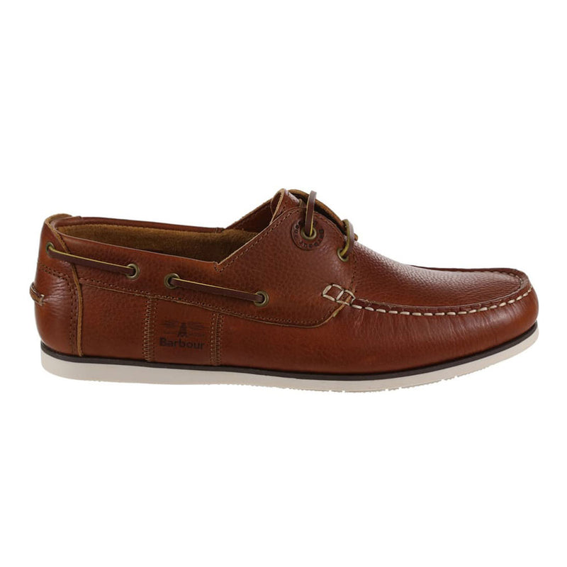 Barbour Men's Capstan Boat Deck Shoes in Cognac Brown