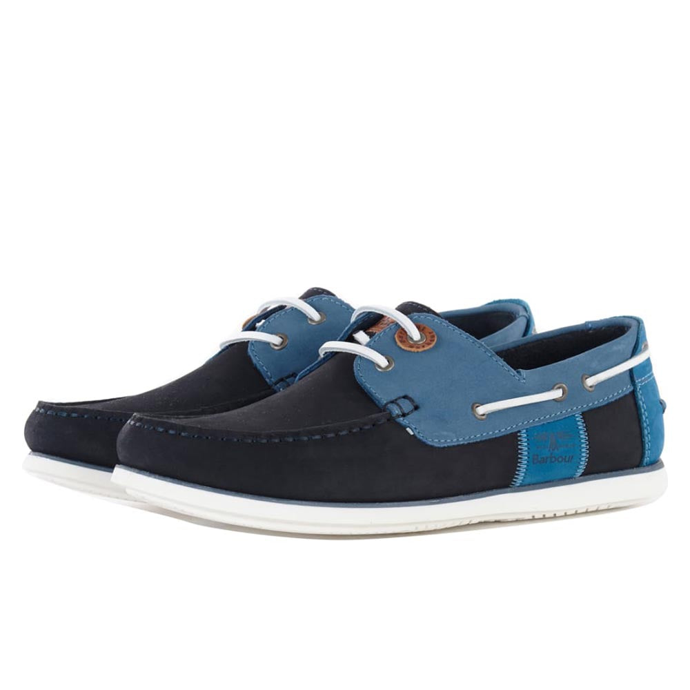 Barbour Men's Capstan Boat Shoes Double Blue
