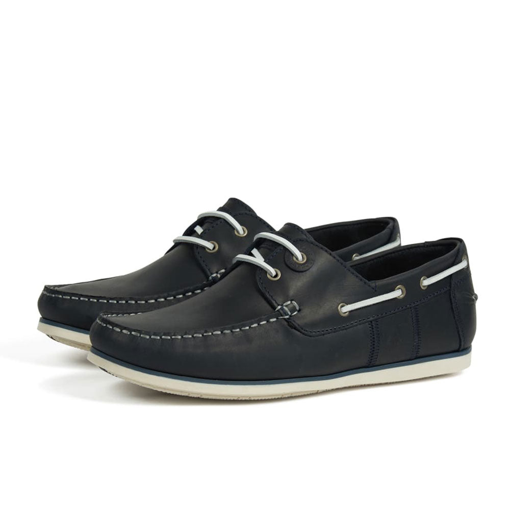 Barbour Men's Capstan Boat Deck Shoes in Navy Blue