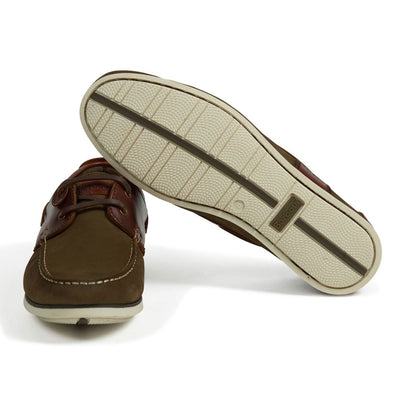 Barbour Capstan Boat Shoes Olive Mahogany