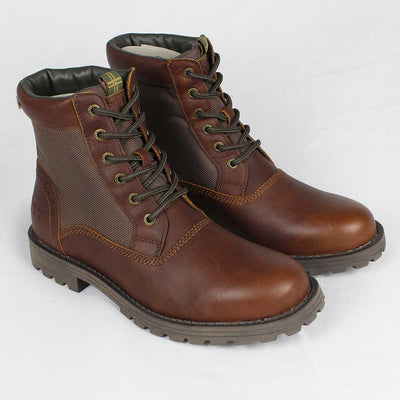 Barbour Cheviot Derby Waterproof Boots Hickory Dark Brown