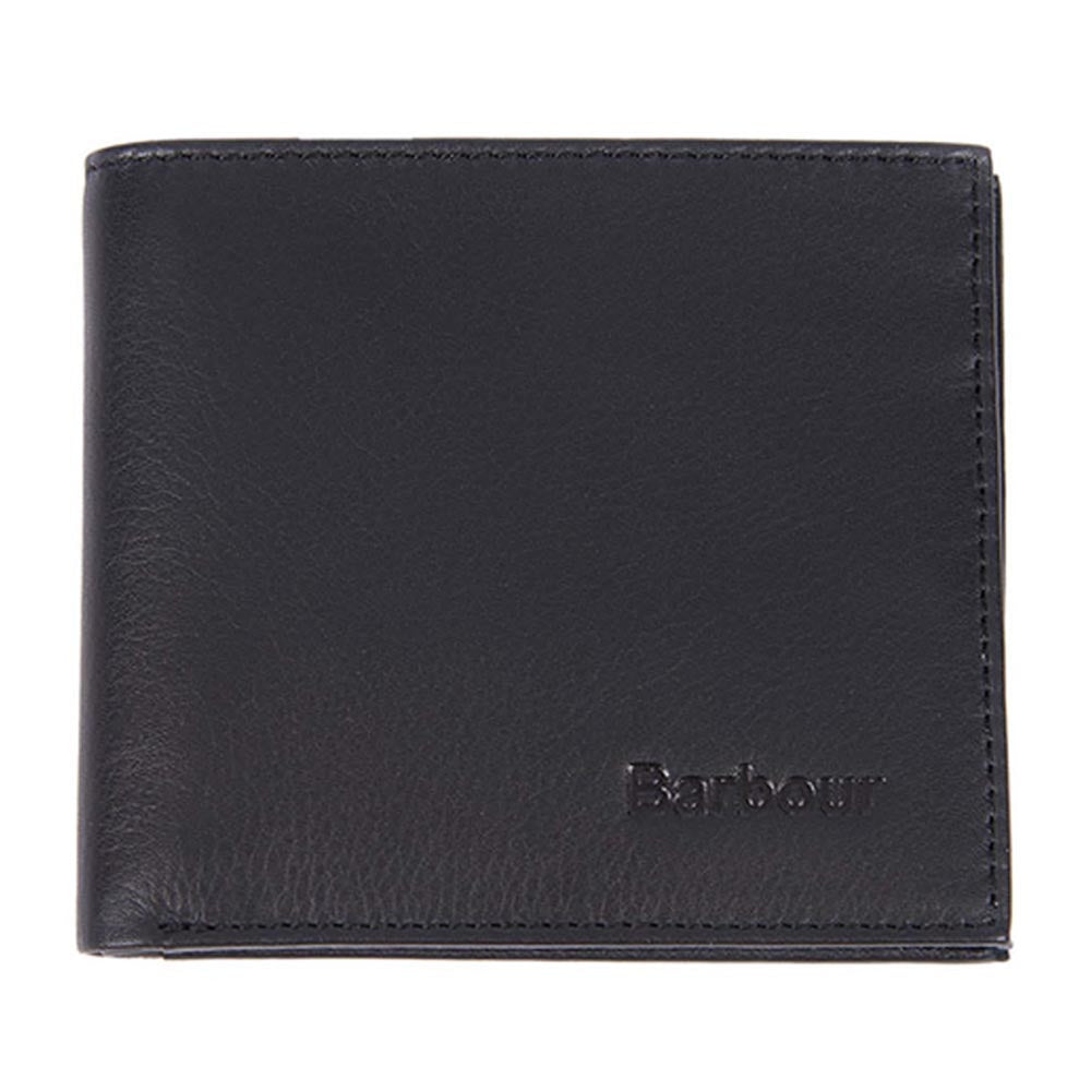 Barbour Colwell Bifold Leather Wallet Black
