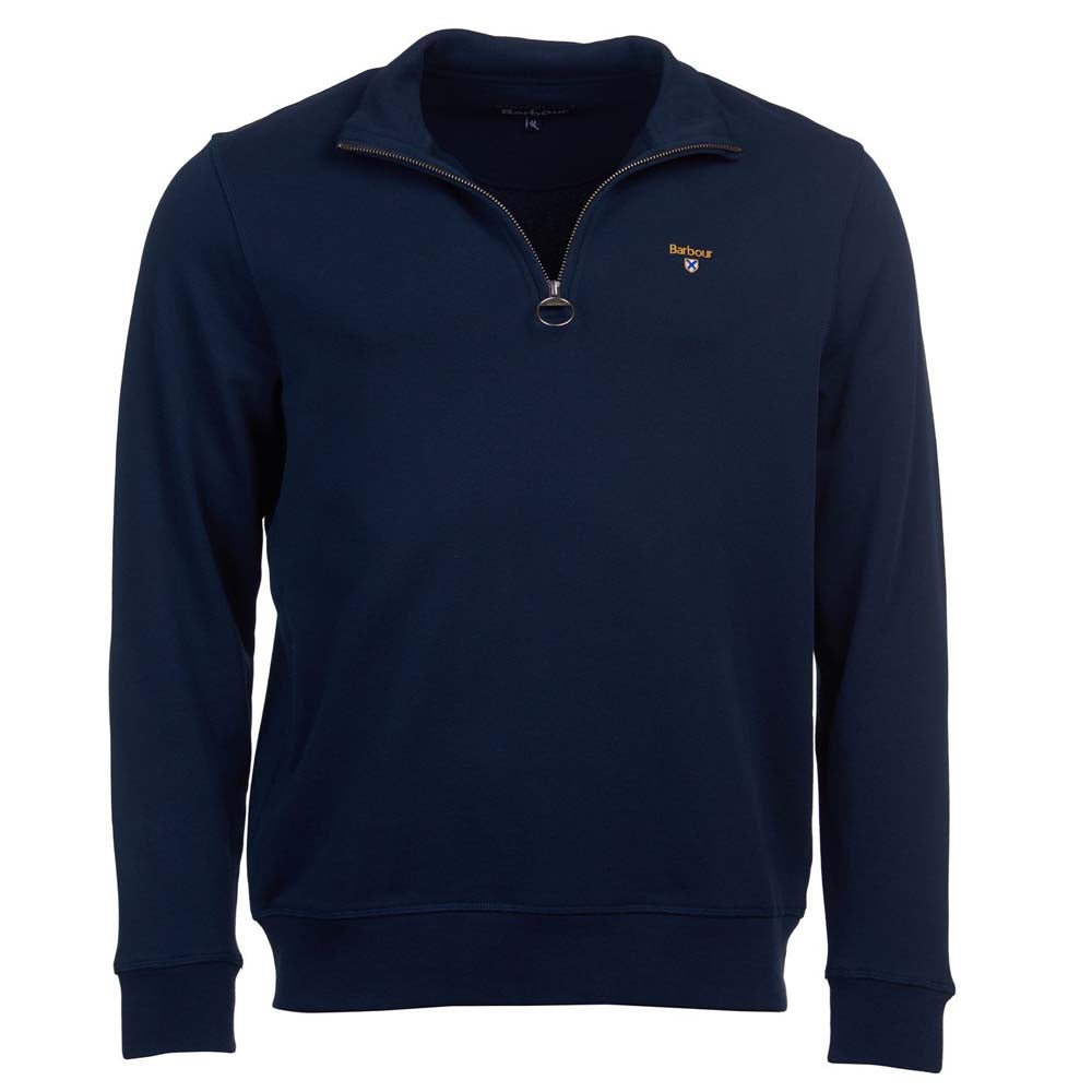 Barbour Mens Saltire Crest Half Zip Sweater Navy