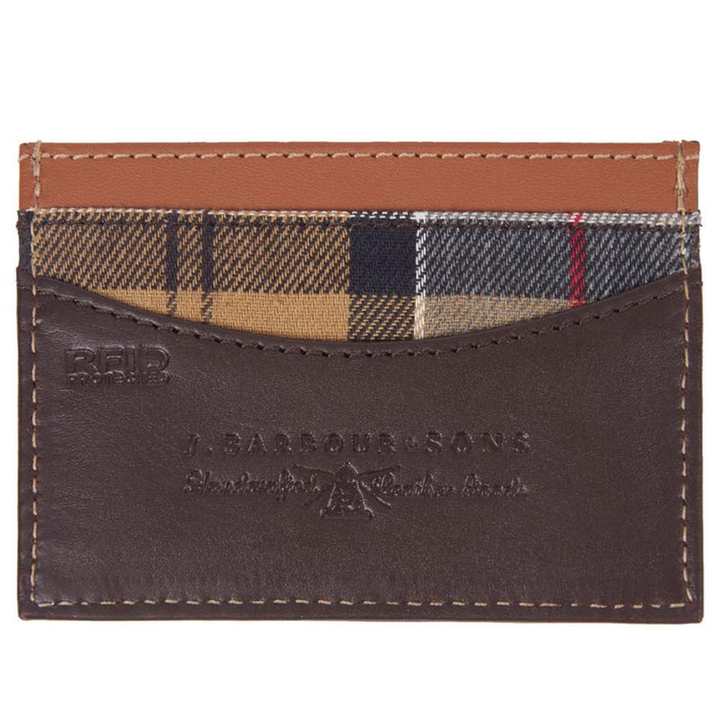 Barbour Elvington Leather Card Holder Brown / Tan