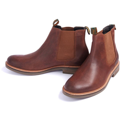 Barbour Farsley Chelsea Boots Dark Tan