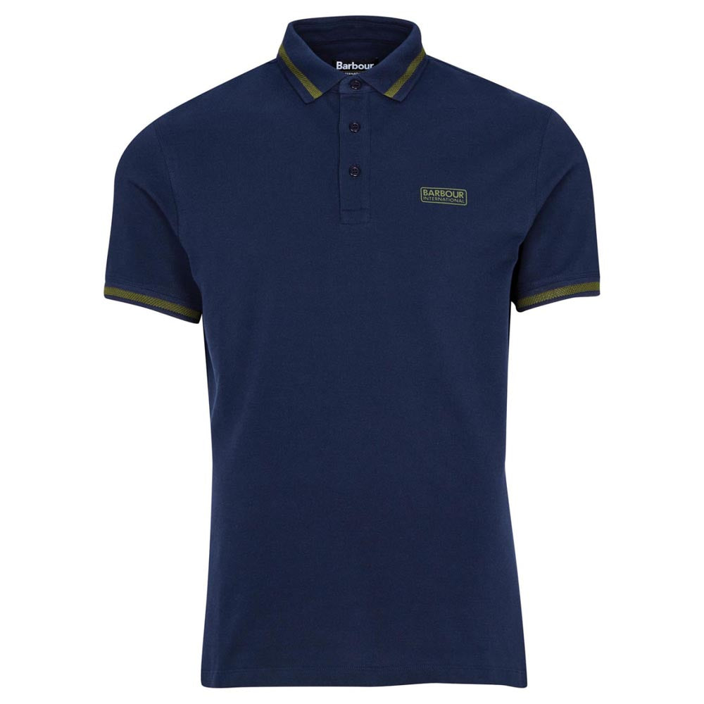 Barbour International Grid Tipped Polo Shirt Navy