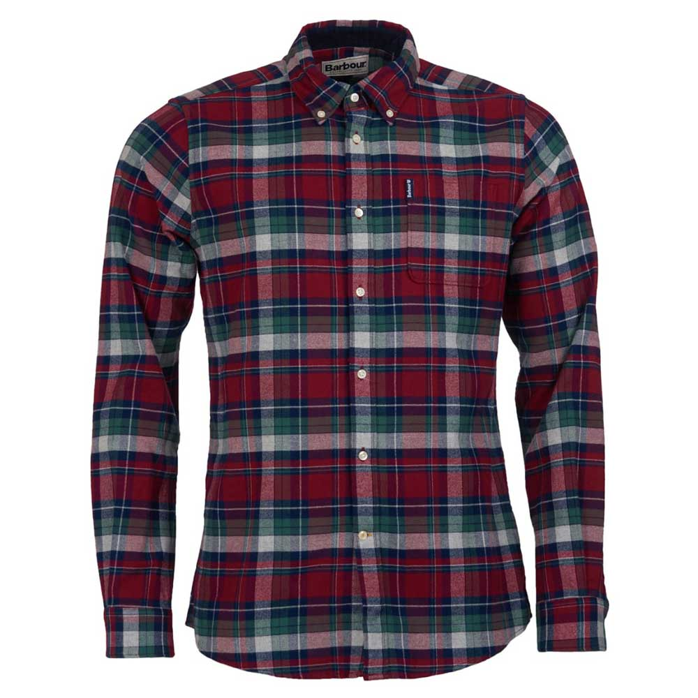Barbour Highland Check 18 Tailored Shirt Red