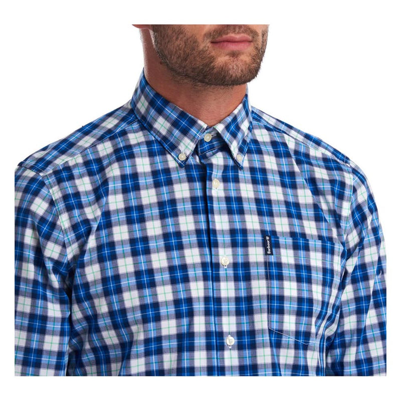 Barbour Highland Check 28 Tailored Long Sleeve Shirt Blue