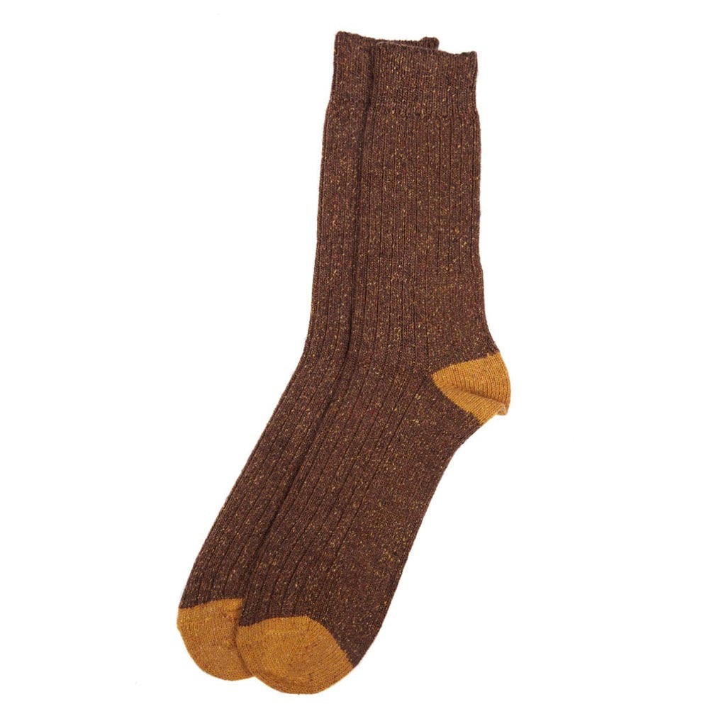 Barbour Houghton Socks Brown Yellow