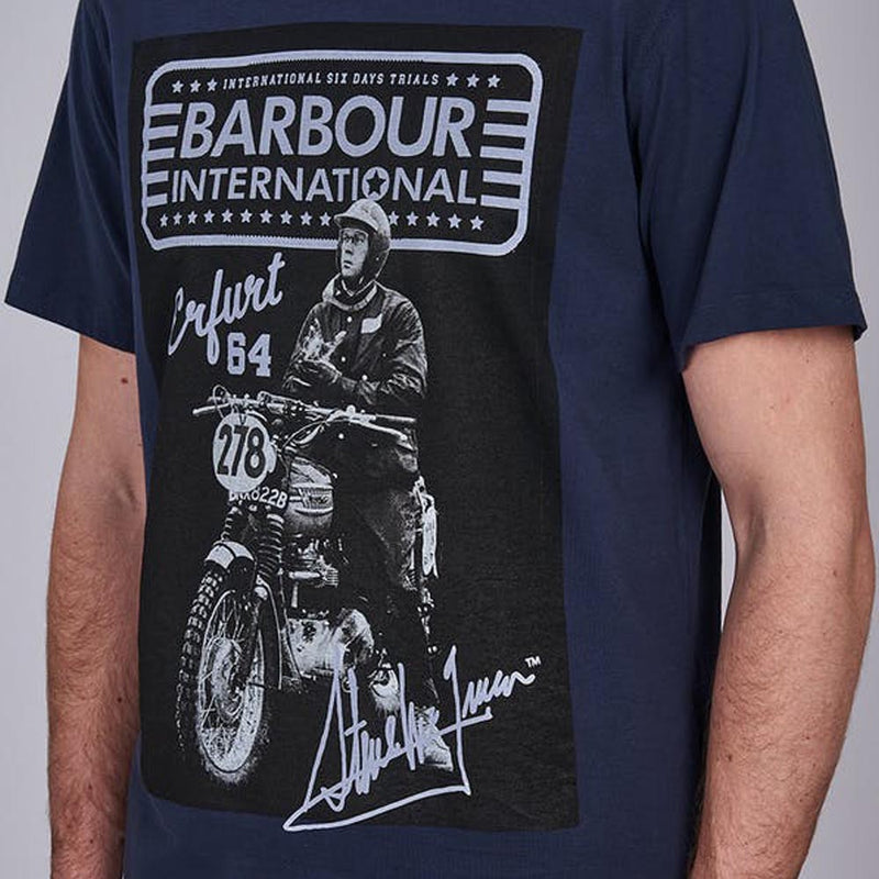 Barbour International Steve McQueen Ringa T-Shirt Navy
