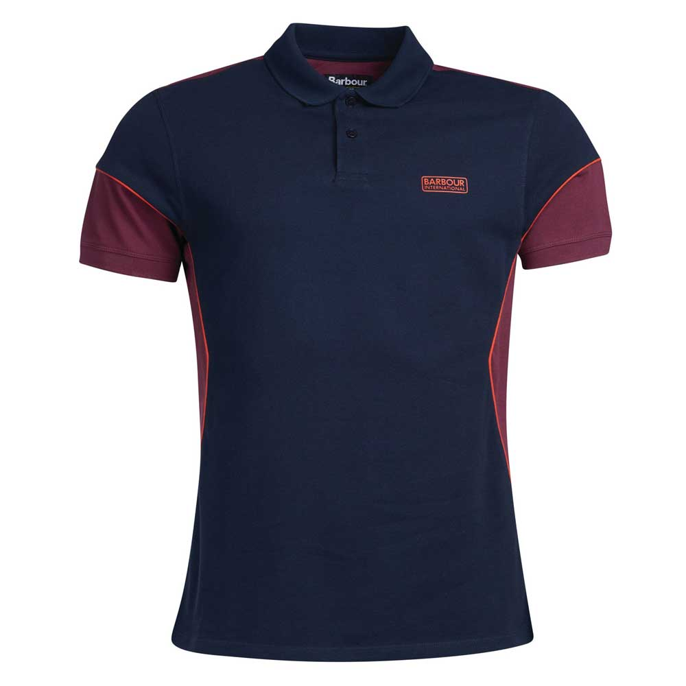 Barbour International Block Short Sleeve Polo Shirt Navy
