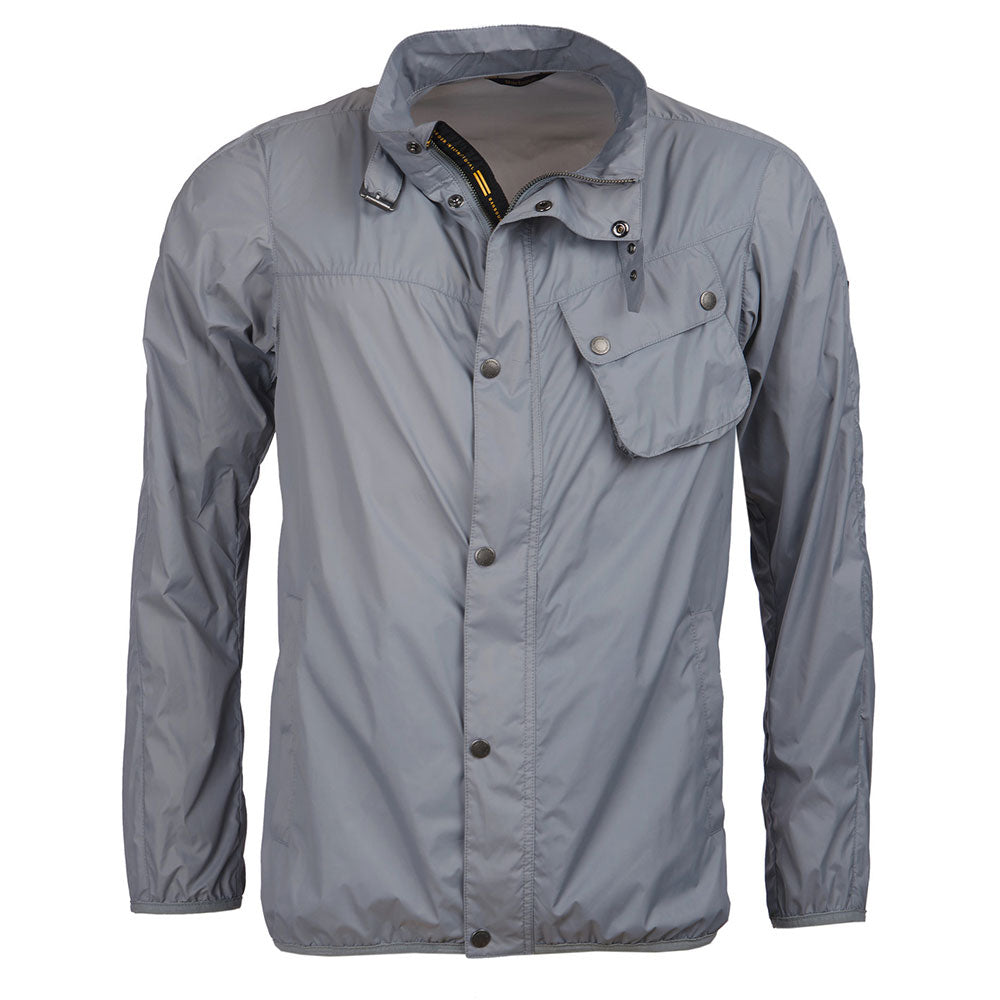 Barbour Dene Lightweight Summer Jacket in Soft Grey