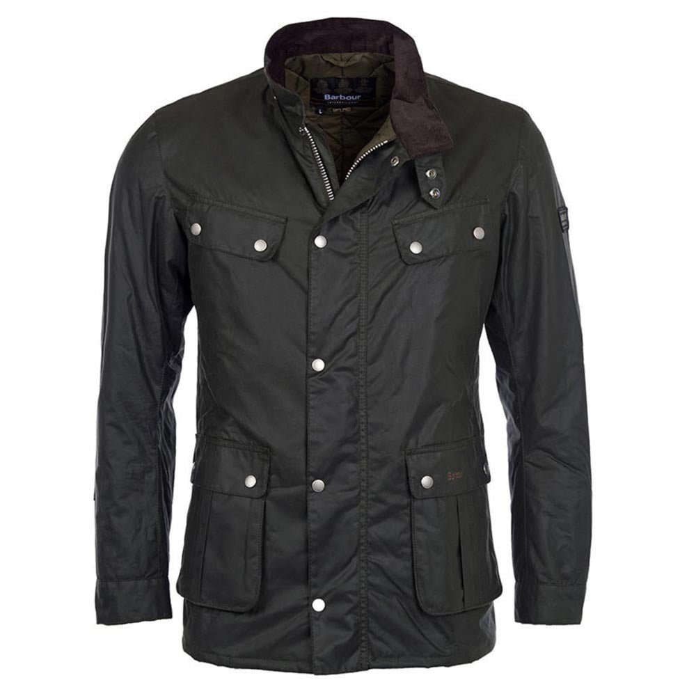 Barbour International Duke Waxed Jacket Sage