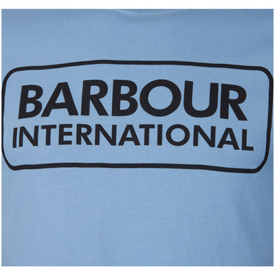 Barbour International Essential Large Logo T-Shirt Powder Blue