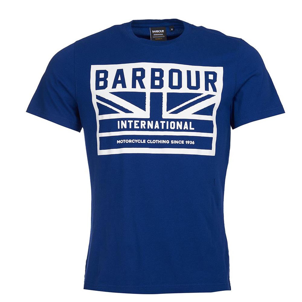 Barbour International Flag T-Shirt Strong Blue