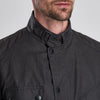 Barbour International Leonards Waxed Cotton Jacket Charcoal